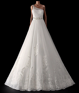 In This Picture You Can See Beautiful A Line Wedding Dresses Of Tulle And Lace