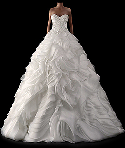 This picture shows one of the beautiful wedding dresses from the new bridal gowns catalog 2015.